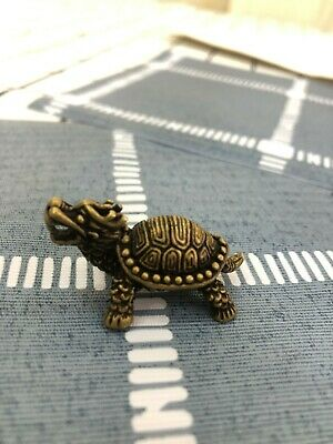 Collectable Samurai Sword Brass Talisman Dragon turtle Beast hanging Pendant