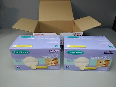 LOT OF (2) Lansinoh Stay Dry Disposable Nursing Pads 100 Count Each ( 200 Total)