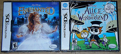 Nintendo DS Lot - Disney Enchanted (New) Disney Alice in Wonderland (New) NDS