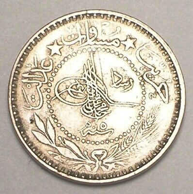 1913 Turkey Turkish Ottoman Empire 10 Para Toughra Coin VF