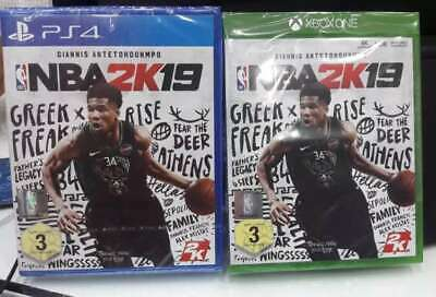 NBA 2k19 PS4 Xbox One Standard Edition Brand New