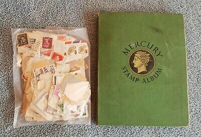 Album Containing a Large Collection of Old Used World Stamps + Extras