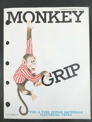 1977 Vintage Monkey Grip - Tire & Tube (8 Pages) Jobbers Catalog and Sell Sheet