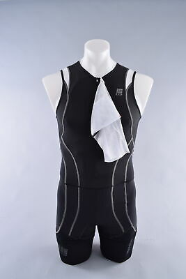 1693d79d0c CEP Compression Triathlon Skinsuit Men's Size 3 Medium Black Tri Swim Run  Bike