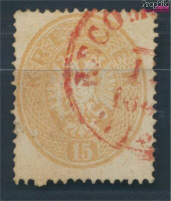Austria 29 9057814 complete Issue Fine Used / Cancelled 1863 Double Eagle