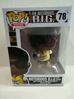 The Notorious B.i.g. With Jersey Funko Pop Rocks N.78, Nuovo, New