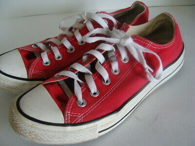 fc88abfd2723 Converse Chuck Taylor All Stars Ox Red Canvas Classic Low Sneakers M7 W9  M9696