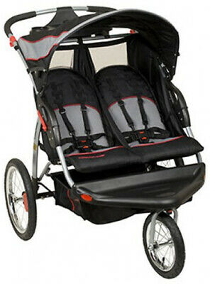 NEW Baby Trend Expedition Swivel Double Jogger Baby Jogging Stroller- Millennium