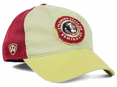 separation shoes 75a13 faf9c Florida State Seminoles NCAA Top of the World Stone Maroon Tan Flex fit Hat  Cap