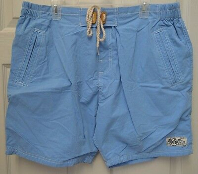 d3d5f08ae8 Men's Superdry Premium Sky Blue Swim Trunks Board Shorts ~ Xxl ~ W38 ~ Nwt ~