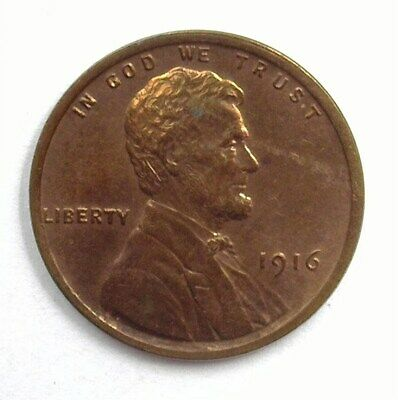 1916 Lincoln Wheat Cent  Gem Uncirculated Rb Rare This Nice!