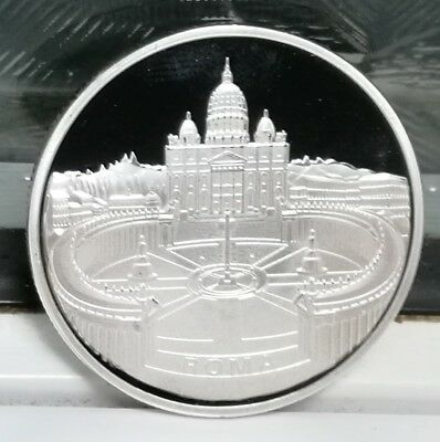 Pope Silver Coin Vatican Heaven Prayer God Bless You Angels Cathedral Pray Love