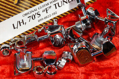 Genuine Fender '70's F Tuners, Left Hand, Chrome Plated, One Set 0990822102