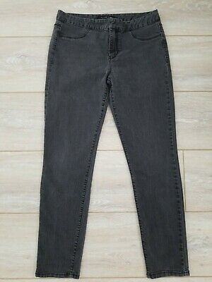 CALVIN KLEIN Women's Faded Black Skinny Stretch Jeans Size 12