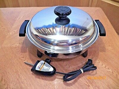 LIFETIME Cookware Electric Skillet Custom Designed Waterless Liquid Oil Core