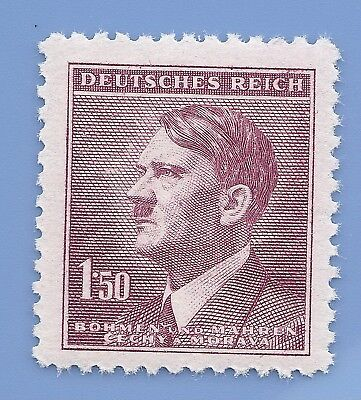 Nazi Germany Third Reich Nazi B&M Adolf Hitler 1.50 stamp MNH WW2 ERA