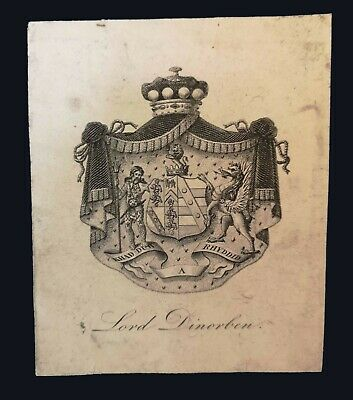 [after 1803] Armorial bookplate of Lord Dinorben