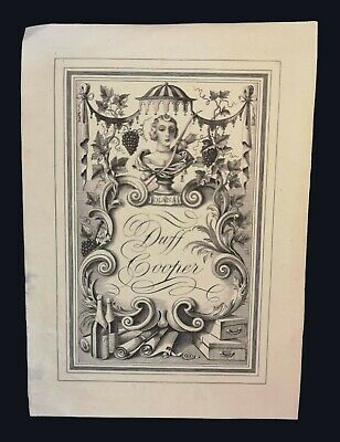 [early 20th century] Bookplate by Rex Whistler