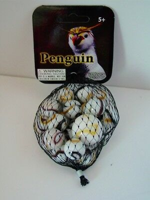 PENGUIN- Net Bag Of 24 Player Mega Marbles & 1 Shooter-Instructions & Facts-2017