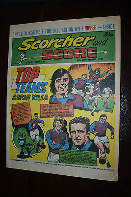SCORCHER AND SCORE COMIC - 4 September 1971, Aston Villa, Terry Neill Ron Harris