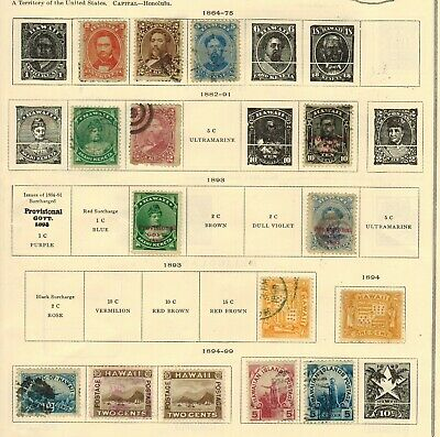 Lot of Hawaii Old Stamps Used/MH-