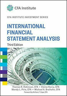 International Financial Statement Analysis Third Edition 3rd By Thomas [P D F]