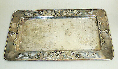 Antique c1900 Art Nouveau Jugendstil WMF Signed Silverplate SERVING TRAY