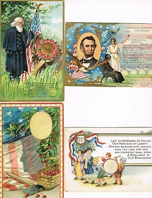 Lot of 36 ANTIQUE EARLY 1900s Postcards     * U. S. A. PATRIOTIC *