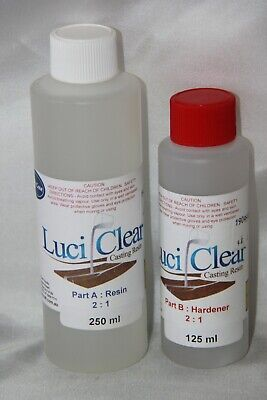 LuciClear 375ml Epoxy Casting Resin Kit. Clear casting resin. River table resin.
