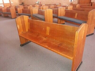 church pews original solid wood. Variety of sizes