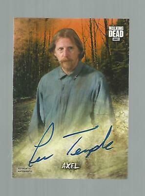 2018 Walking Dead Lew Temple as AXEL AUTO Autograph #'d 24/99 Road to Alexandria