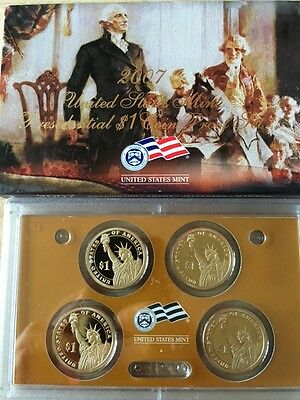 2007 United States Mint Presidential $1 Coin Proof Set With Box & Coa