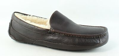 UGG Mens Ascot China Tea Leather Moccasin Slippers Size 15 (276287)