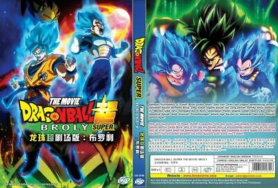 DVD English Dubbed Dragon Ball SUPER The Movie: BROLY All REG Tracking Shipping
