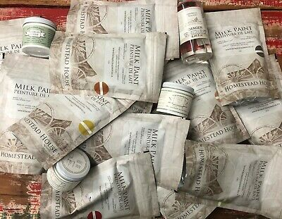 6 Packages Miss Mustard Seed / Homestead House Milk Paint, Wax & Brush Solvent