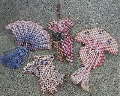 """""""Victorian Fans and Parasols"""" Cross Stitch & Beaded Home Decoration"""