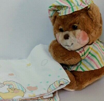 Fisher Price Teddy Beddy Bear Sleepy Time Baby Blanket Riegel Vtg Plush Toy Lot