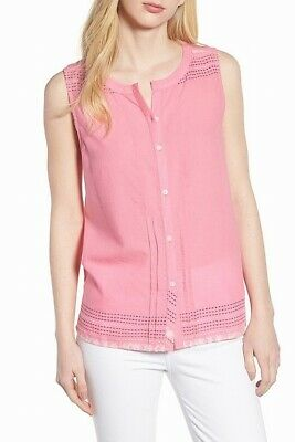 72e7eac5bae757 Caslon NEW Pink Women s Size Small PS Petite Embroidered Cami Top  59  552