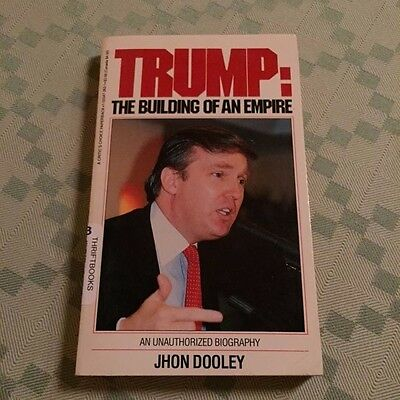 1988 Donald TRUMP BUILDING OF EMPIRE Biography NYC Real Estate Casino deal maker