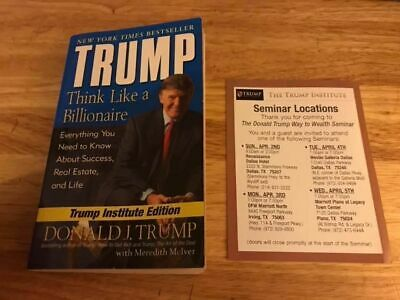 Donald Trump Think Like A Billionaire - Institute Ad Wealth Planing seminar Card