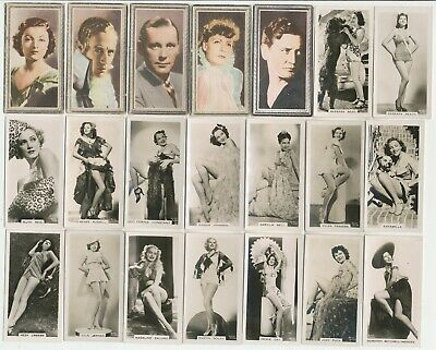 108 Film Stars & Beauties Cigarette Cards c.1920-1930's  (All Diff.)