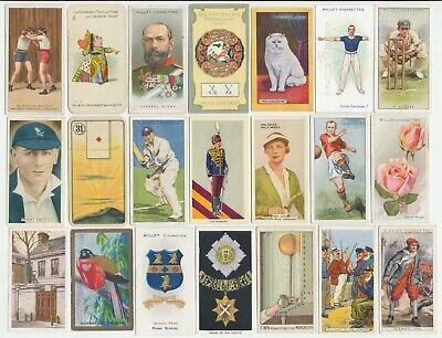 103 Cigarette Cards c.1910-1930's (VG-VG+) (Various Issuers & Subjects) All Diff