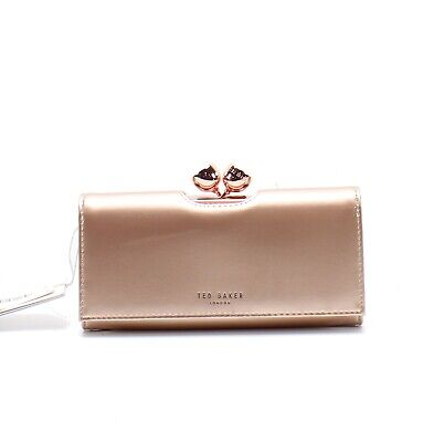 c83021619 Ted Baker NEW Light Pink Bobble Closure Patent Leather Matinee Wallet  149-   040