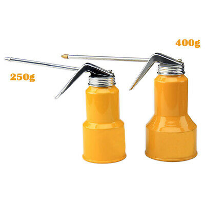 250/400g High Pressure Hand Pump Oiler Tool Oil Pot Can Spray Hose For Lubricant