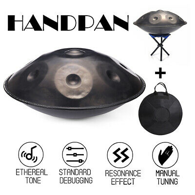 9 Notes Hand Pan Steel Handpan Hand Drum Carbon Percussion High-Grade Music Set