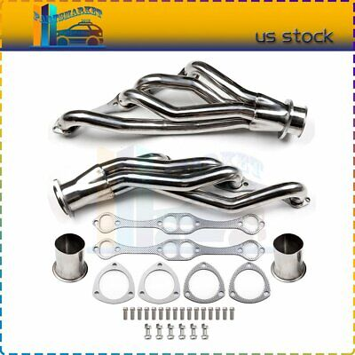 FOR 02-13 ESCALADE//HUMMER H2 L+R STAINLESS STEEL RACING EXHAUST HEADER MANIFOLD