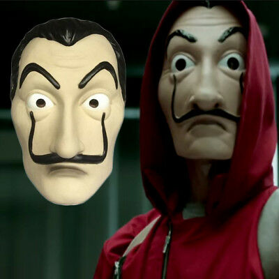 Adulto Red Banknote House Salvador Dali Cosplay Party Costume + Maschera