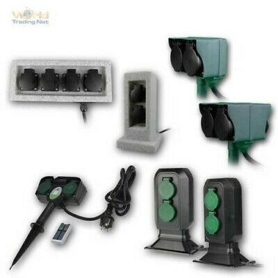 Gartensteckdosen 2/4-plug Various Types External Socket Garden Distributor