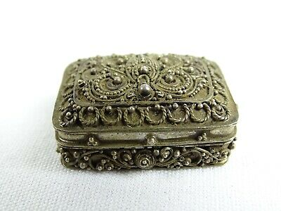 Antique Chinese Coin Silver 900 Fillagrre Snuff Box China Early 20thC