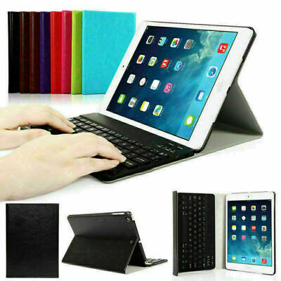 UK For iPad 2 3 4/iPad 2018/2017/Air/Mini Wireless Bluetooth Keyboard Cover Case